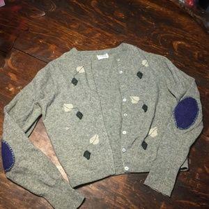Adorable Upcycled Vintage Wool Cardigan